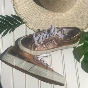 Superga Rose Gold Sneakers